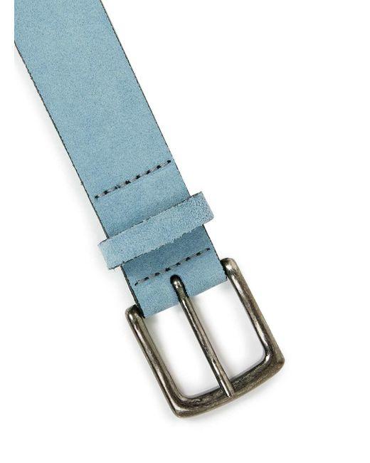 Topman Light Blue Suede Belt In Blue For Men Lyst