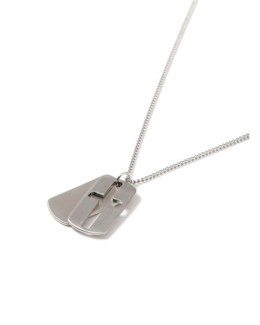 Topman - Metallic Ilver Cross Dog Tag Necklace for Men - Lyst