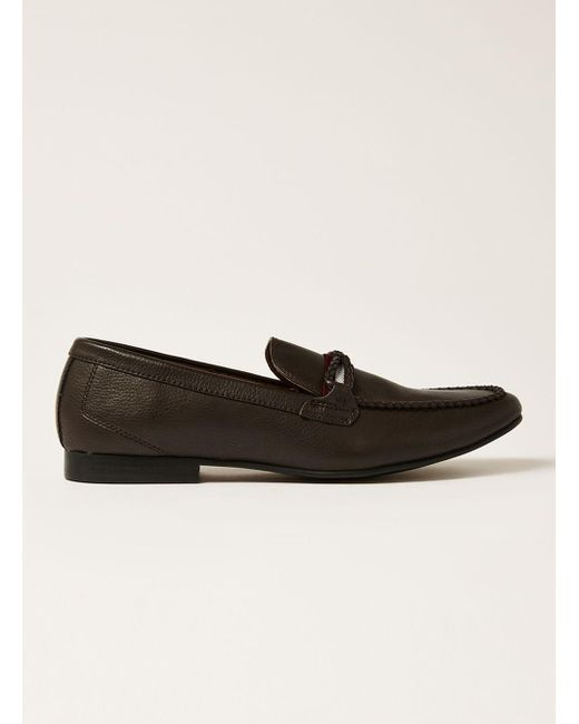 Topman - Brown Collie Webbing Tape Loafer for Men - Lyst