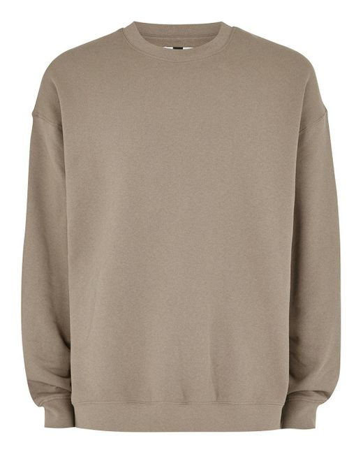 Topman - Washed Brown Dropped Shoulder Sweatshirt for Men - Lyst