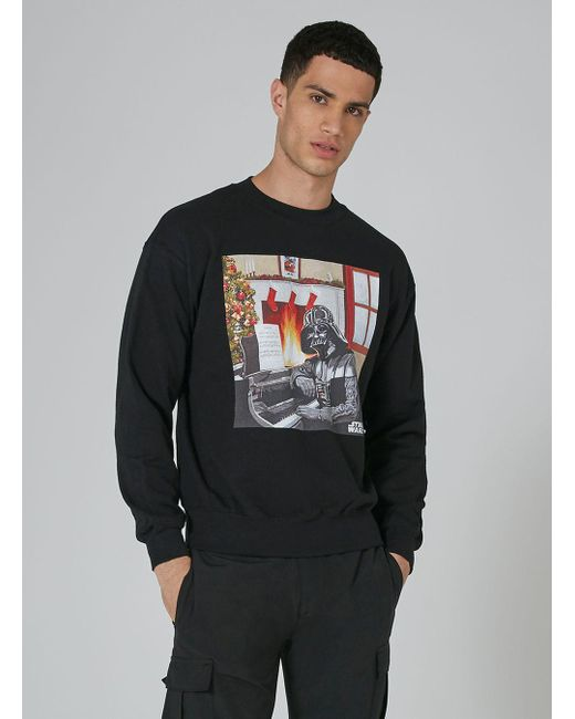 Topman - London Knitwear Company Black 'darth Vader' Sweatshirt for Men - Lyst