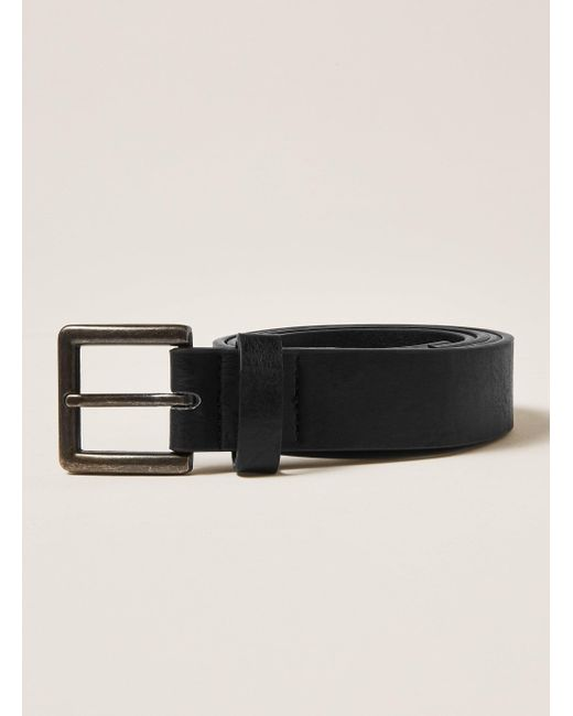 Topman - Black Skinny Faux Leather Belt With Brushed Silver Buckle In for Men - Lyst