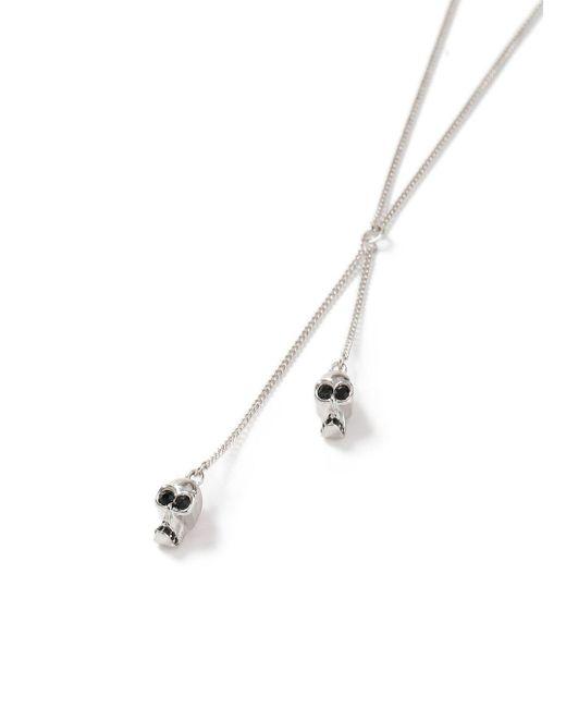 Topman | Metallic Silver Skull Necklace for Men | Lyst