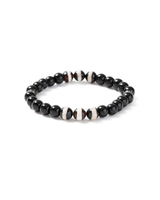 Topman | Black And White Bead Bracelet for Men | Lyst