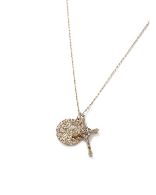 Topman - Metallic Gold Cross And Coin Necklace for Men - Lyst