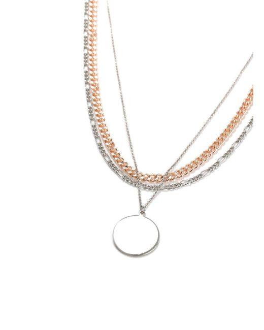 Topman - Metallic Disc Necklace for Men - Lyst