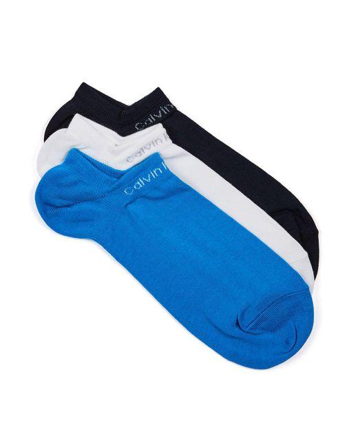 Calvin Klein   Blue Assorted Colour Socks 3 Pack for Men   Lyst
