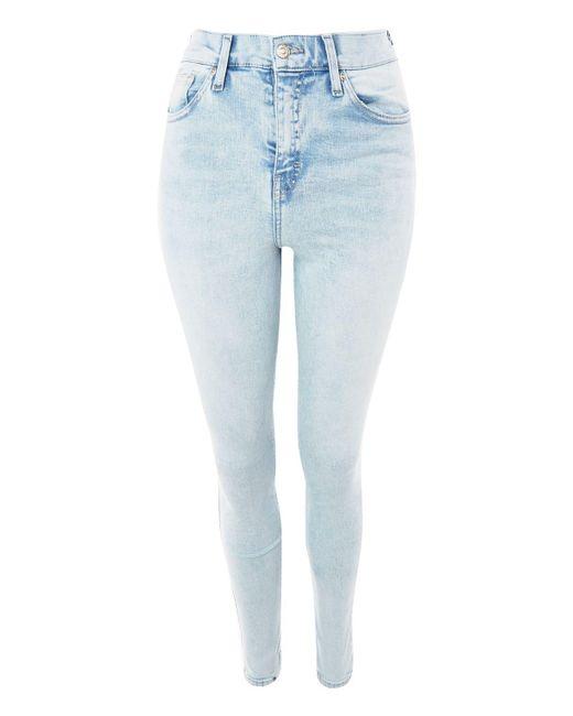 TOPSHOP | Blue Moto Super Bleach Jamie Jeans | Lyst
