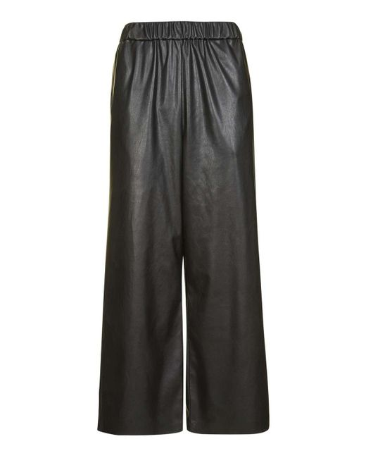 TOPSHOP   Black Faux Leather Awkward Trousers   Lyst