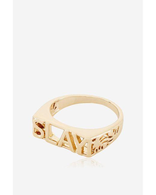 Skinnydip London - Metallic Rose Gold Slay Ring By Skinnydip - Lyst