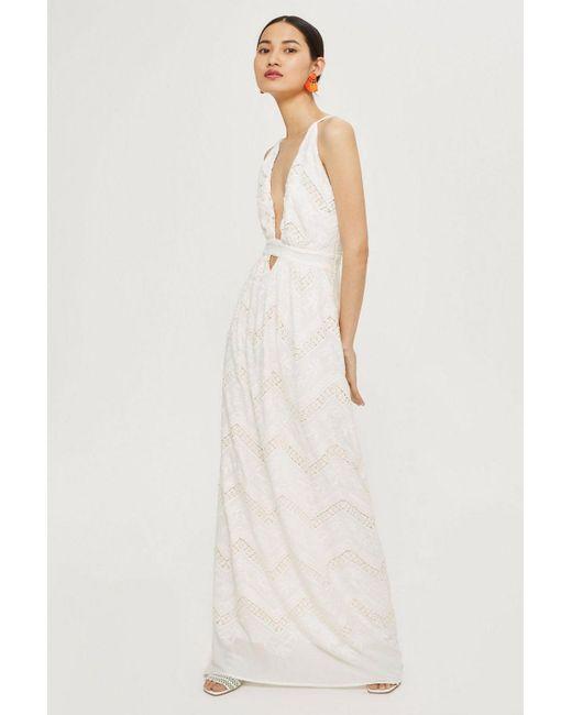 Lyst Topshop Halter Neck Bridal Gown By Flynn Skye In White