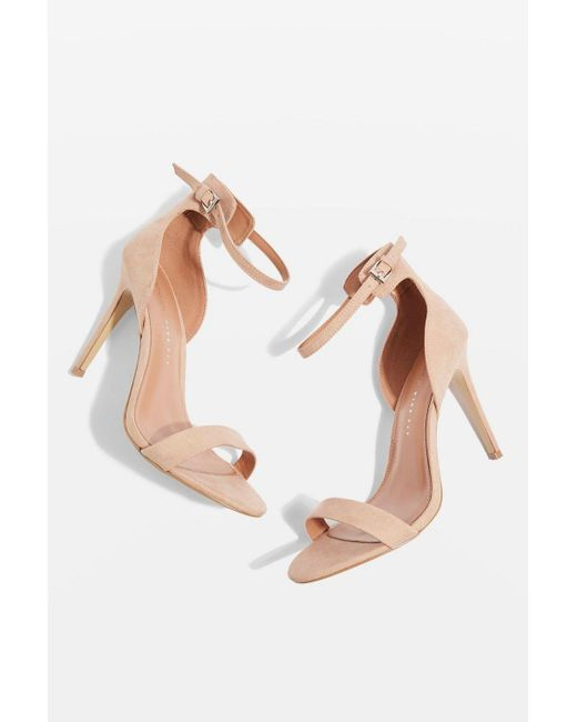 TOPSHOP - Natural Wide Fit Marcelle Sandals - Lyst