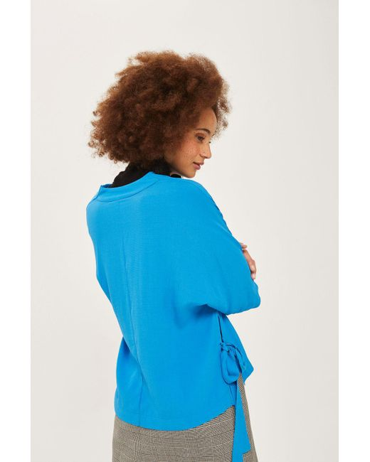 TOPSHOP | Blue Tie Side T-shirt | Lyst