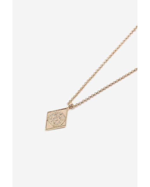 TOPSHOP - Metallic Diamond Engraved Ditsy Necklace - Lyst