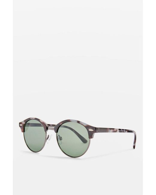 TOPSHOP - Multicolor Oval Tortoise Shell Sunglasses - Lyst