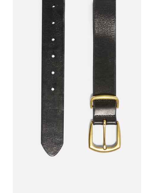 TOPSHOP Leather Belt In Black