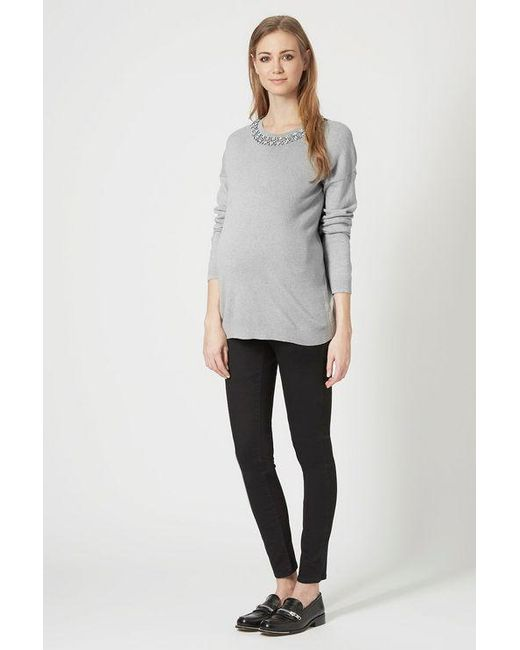2214749848c7a TOPSHOP - Black maternity Under The Bump Joni Jeans - Lyst ...