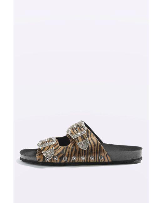 Topshop Falcon Buckle Sandals Lyst