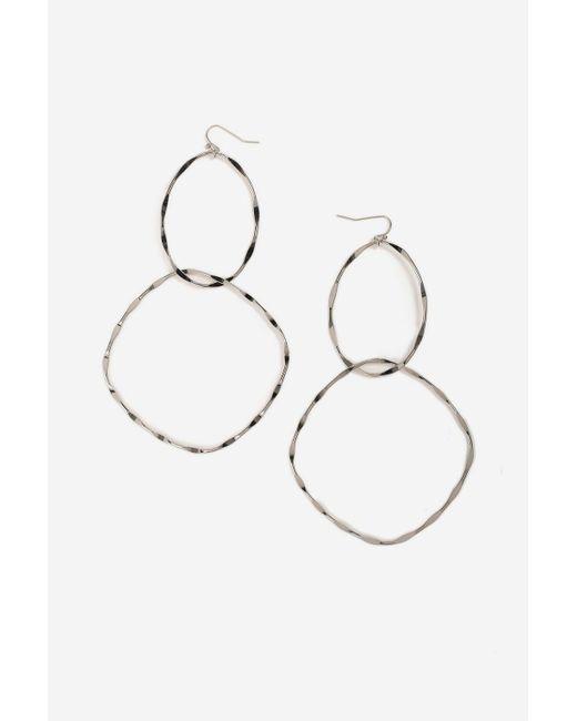 TOPSHOP - Metallic Metal Link Drop Earrings - Lyst