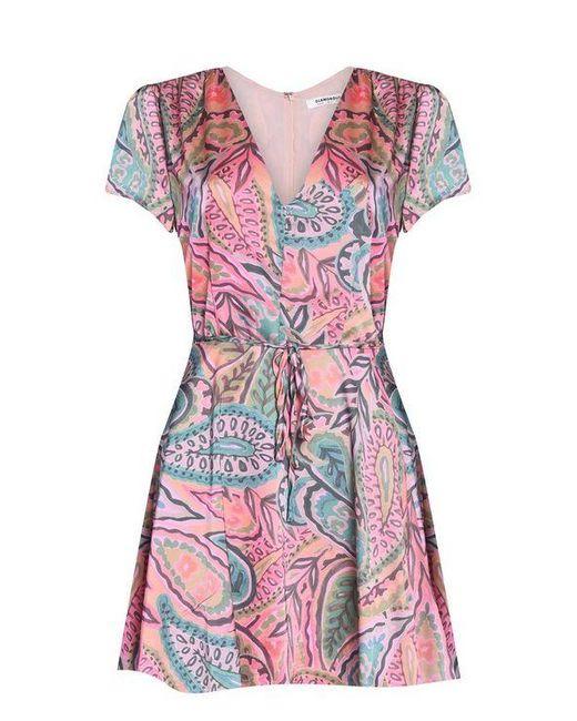 df683c661d49 Glamorous - Multicolor watercolour Printed Tea Dress By - Lyst ...