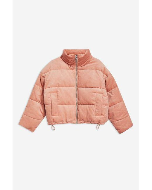 1a7333b92 Women's Pink Petite Corduroy Puffer Jacket