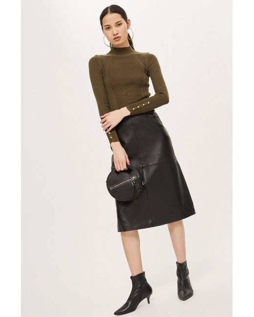 TOPSHOP - Multicolor Tall Roll Neck Sweater - Lyst