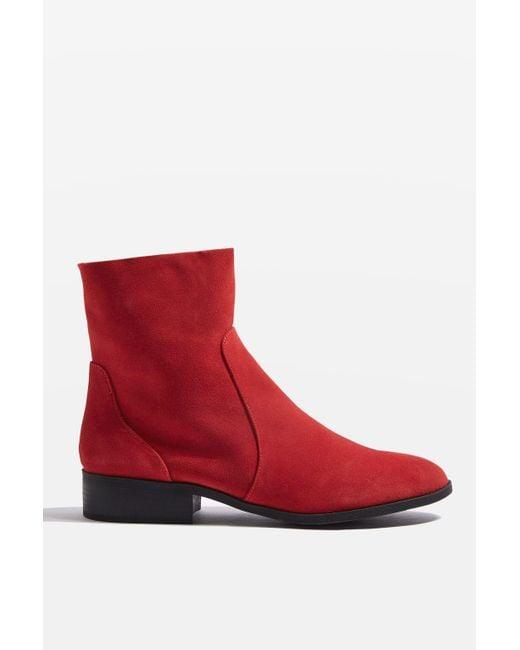 topshop klash suede sock boots in black lyst
