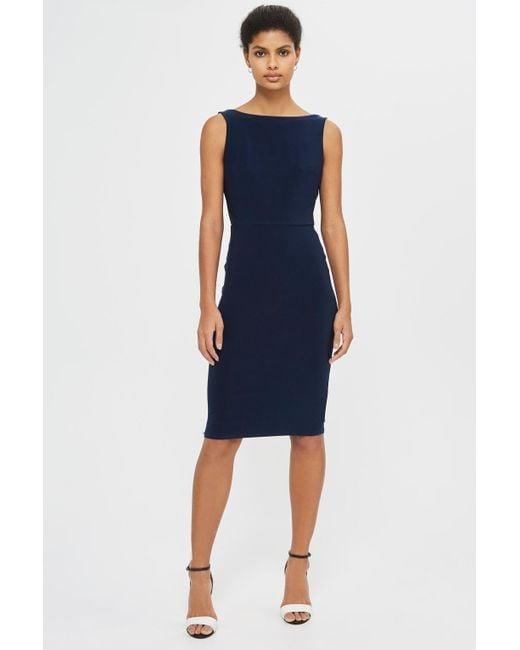 Love | Blue Cowl Back Dress By | Lyst