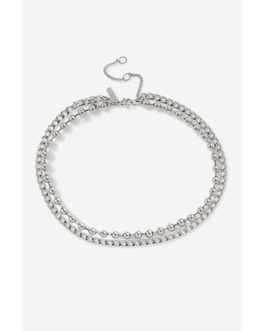 TOPSHOP Metallic multirow Necklace
