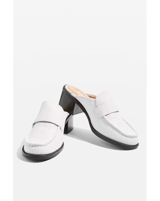 TOPSHOP | White Kolour Slip On Mules | Lyst