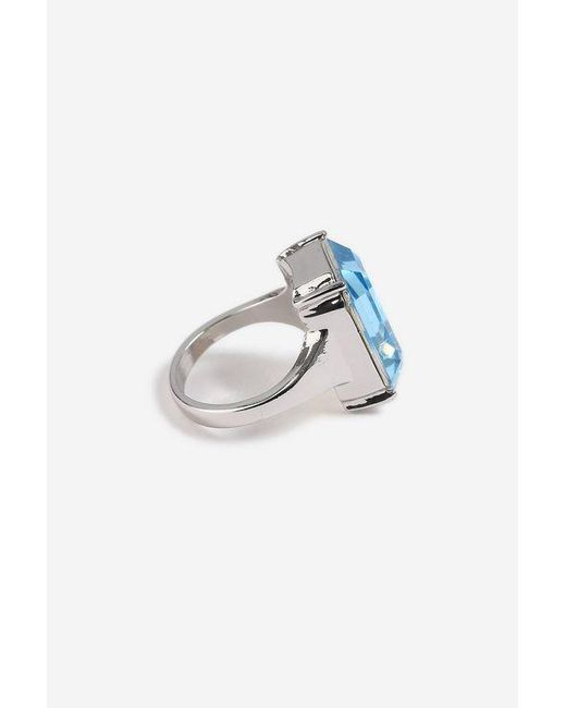 TOPSHOP - Blue Large Stone Ring - Lyst