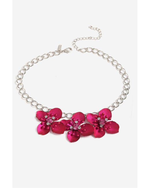 TOPSHOP | Pink Fuchsia Floral Collar | Lyst