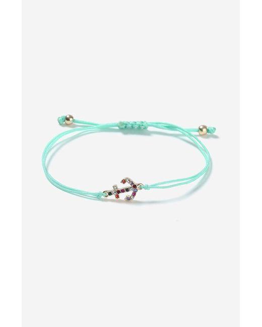 TOPSHOP | Blue Adjustable Anchor Charm Bracelet | Lyst