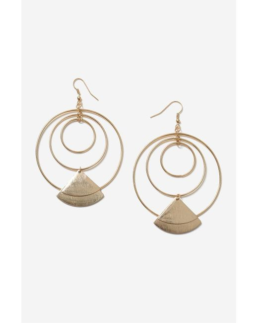 TOPSHOP | Metallic Orbital Charm Drop Earrings | Lyst