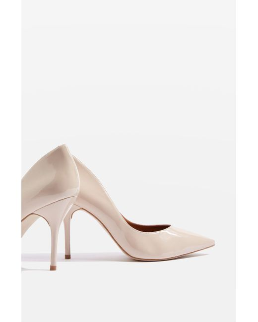 TOPSHOP - Natural Glaze Court Shoes - Lyst