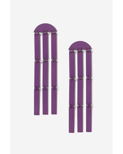 TOPSHOP | Purple Bar And Tassel Drop Earrings | Lyst