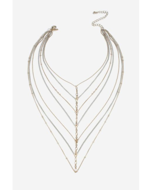 TOPSHOP | Metallic Ladder Choker Necklace | Lyst