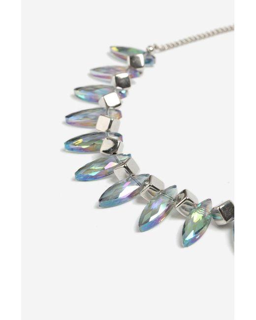 TOPSHOP - Multicolor Mixed Facet Collar Necklace - Lyst
