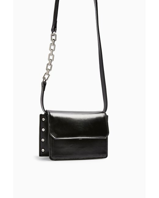 Mini sac à bandoulière clouté noir Casady TOPSHOP en coloris Black