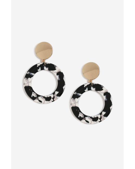 TOPSHOP - Metallic Marble Resin Drop Earrings - Lyst