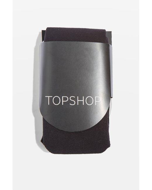TOPSHOP | Black Fleece Lined Tights | Lyst