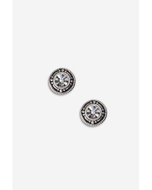 TOPSHOP - Metallic Sterling Silver Twisted Link Earrings - Lyst