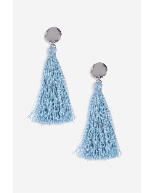 TOPSHOP | Pastel Blue Stud And Tassel Earrings | Lyst