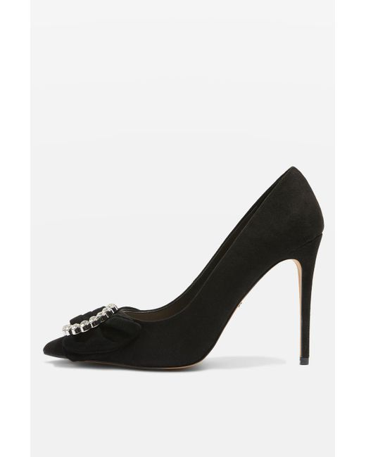 TOPSHOP   Black Glamorous Bow Courts   Lyst