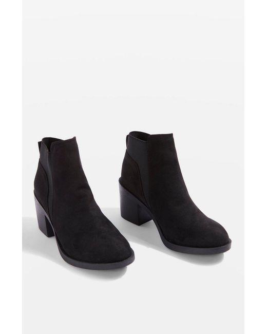 TOPSHOP - Black Buddy Unit Boots - Lyst