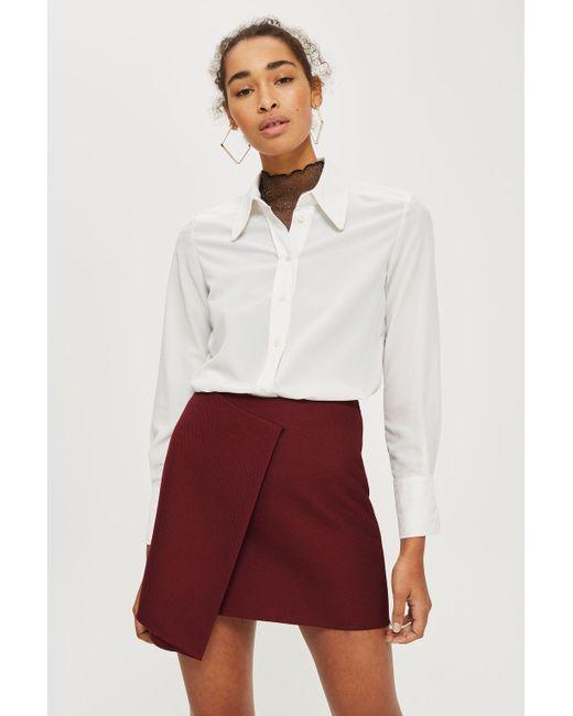 TOPSHOP | Multicolor Bonded Raw Edge Skirt | Lyst