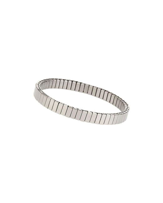 TOPSHOP - Metallic silver Ridge Stretch Bracelet - Lyst