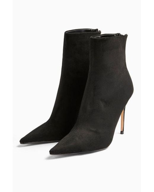 TOPSHOP Eda Black Point Boots