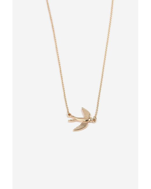 TOPSHOP - Metallic Engraved Bird Ditsy Necklace - Lyst