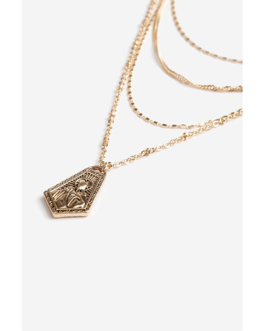 TOPSHOP - Metallic Charmed Layered Necklace - Lyst